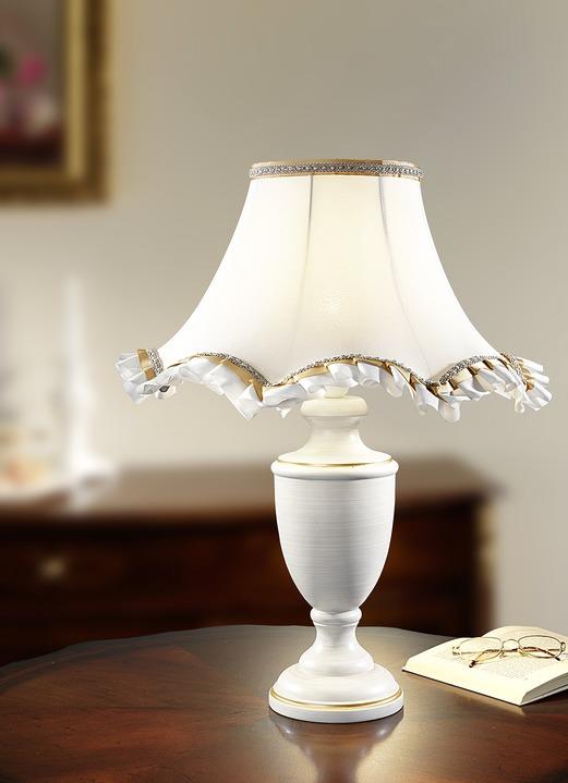 tischleuchte mit zauberhaftem schirm aus stoff lampen leuchten brigitte st gallen. Black Bedroom Furniture Sets. Home Design Ideas