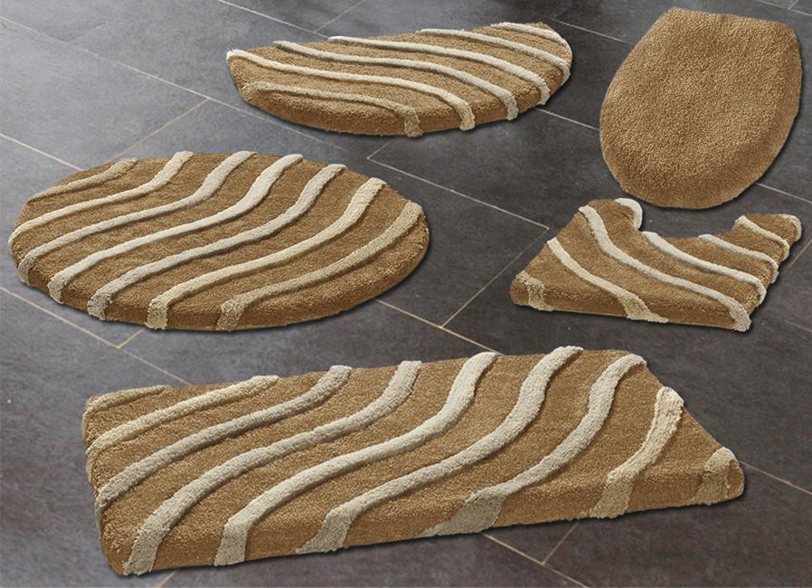 kleine wolke badteppiche mit wellen motiv verschiedene farben badgarnituren brigitte st. Black Bedroom Furniture Sets. Home Design Ideas