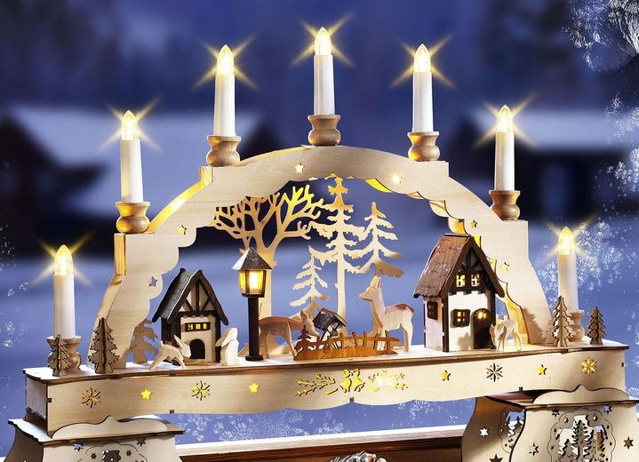 beleuchteter lichterbogen aus holz weihnachtliche dekorationen brigitte st gallen. Black Bedroom Furniture Sets. Home Design Ideas