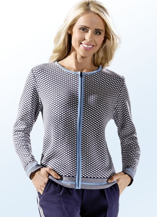 Strickjacke in Jacquard-Dessin