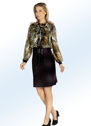 Kleid in 2-in-1-Optik