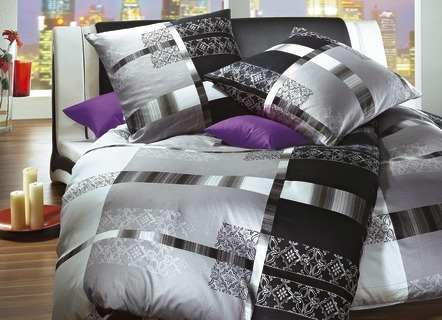 bettw sche garnitur in 4 farben bettw sche brigitte st. Black Bedroom Furniture Sets. Home Design Ideas