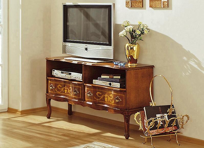 Tv longbord in nussbaum hifi tv m bel brigitte st for Hk aussendesign nussbaum