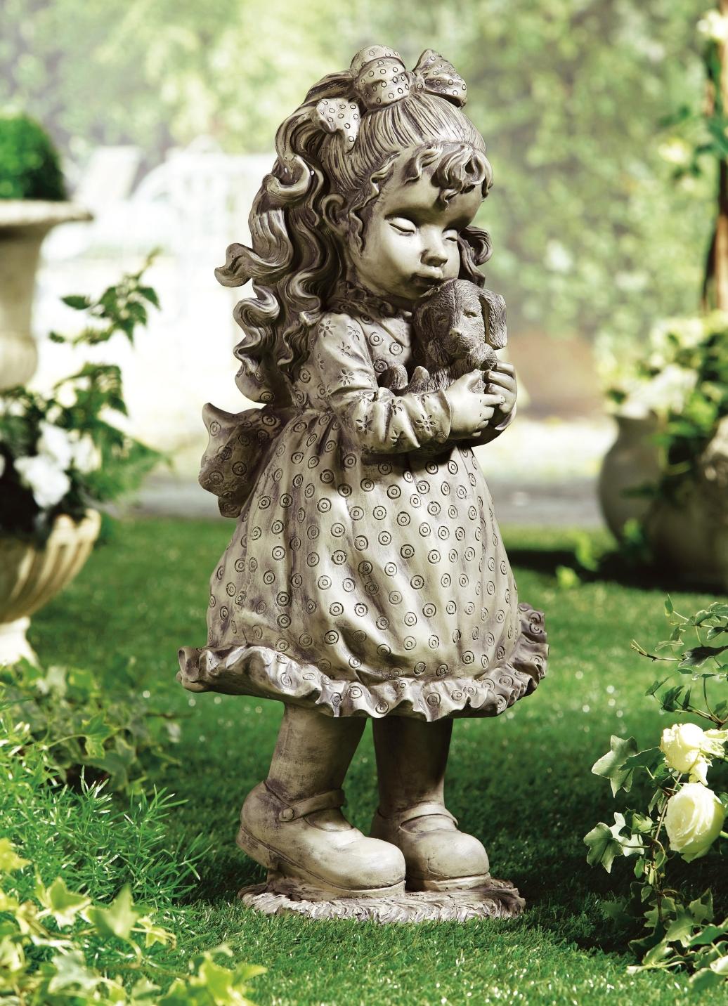 Sarah kay deko figur mit hund gartendekoration for Gartendekoration