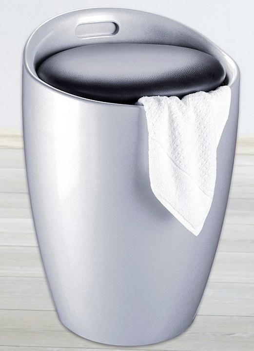 sitzhocker mit stauraum in 2 farben badezimmer brigitte st gallen. Black Bedroom Furniture Sets. Home Design Ideas