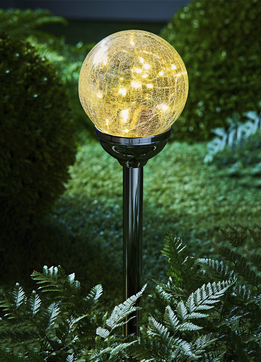 Solarlampen - Solar-Kugelleuchte «Mambo», in Farbe SILBER