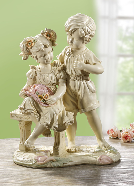 Figuren - Kinderpaar, in Farbe CREME