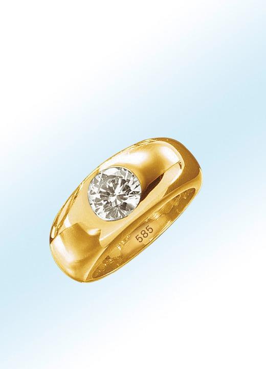 Image of Damenring in massivem Gold