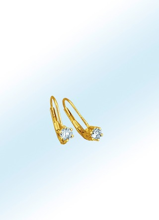 Diamant-Ohrringe in Gold