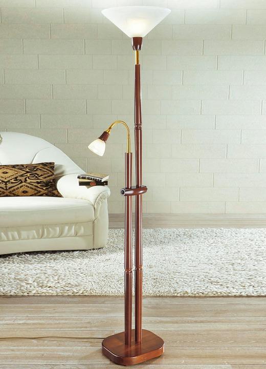 Deckenfluter mit Leselampe, verschiedene Farben