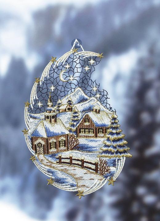 """Fensterbild """"Schnee-Landschaft"""""""