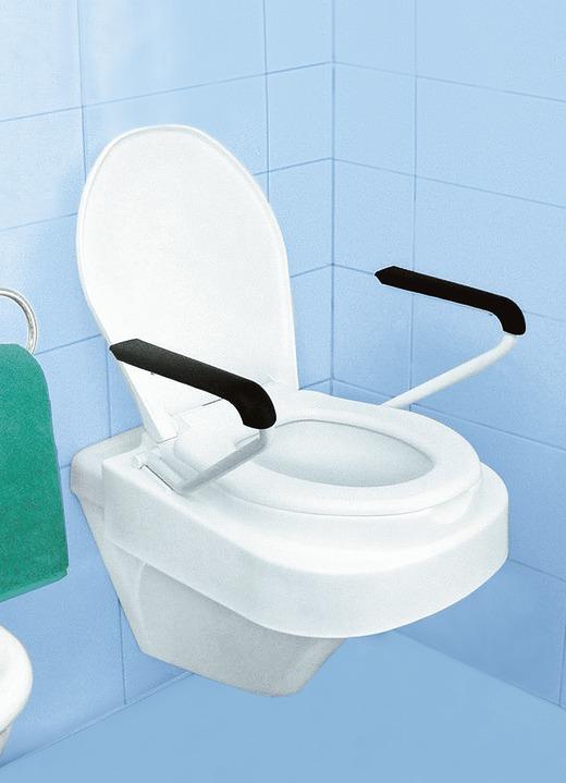 Toilettensitzerhöher mit Armlehnen und Deckel