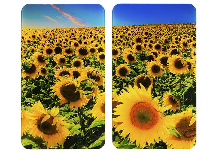 """""""WENKO"""" Herdabdeckplatten Sonnenblumen, 2er-Set"""