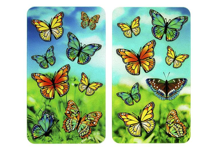 """""""WENKO"""" Herdabdeckplatten Schmetterlinge, 2er-Set"""