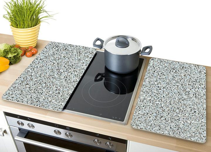 "Herdabdeckplatten ""Granit"", 2er-Set"