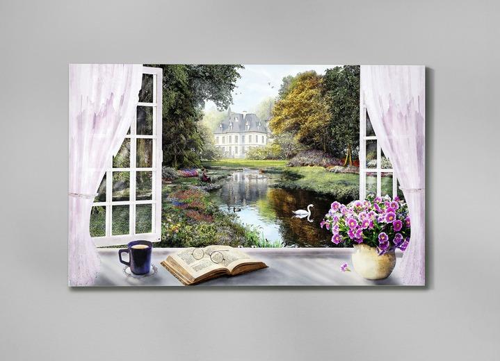 """Bild """"Fenster mit idyllischem Blick"""""""