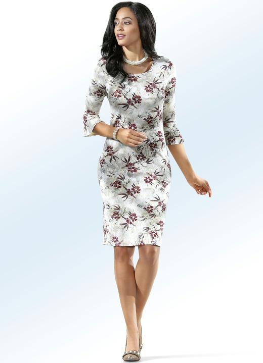 Image of ELENA EDEN Strick-Kleid mit Inkjet-Druck und Glitzer allover