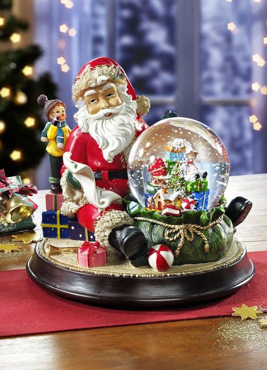 Weihnachtsmann mit Spieluhr