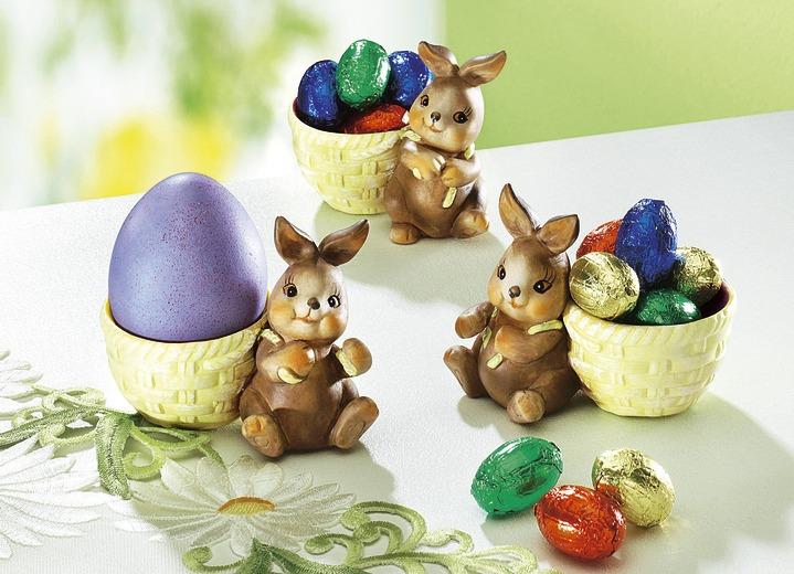 Eierbecher mit Hase, 3er-Set