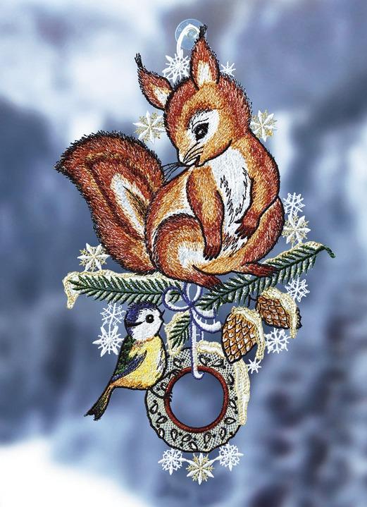 Fensterbild «Wintereichhörnchen»