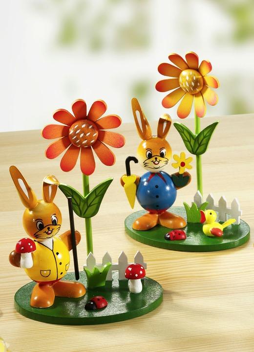 Hasen mit Blumen, 2er-Set in verschiedenen ausführungen