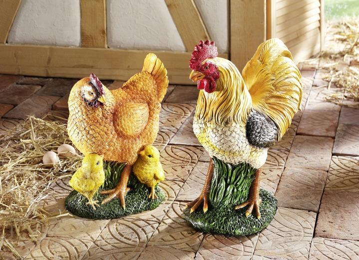 Hühner in verschiedenen Ausführungen