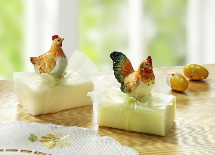 Seife mit Hühnern in verschiedenen Ausführungen